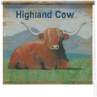 Highland cow printed blind martin wiscombe
