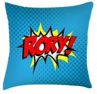 Comic funky style cushion personalised with any name