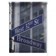 New York 42nd Street printed blind