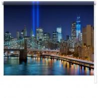New York ground zero printed blind