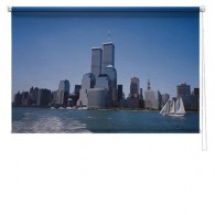 New York Twin Towers printed blind
