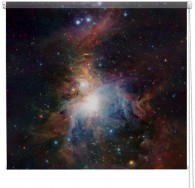 Orion Nebula galaxy printed blind