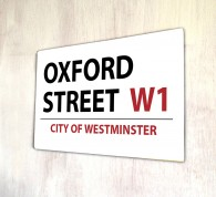 Oxford Street London metal Street sign
