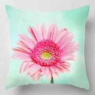 Pastel gerbera flower cushion