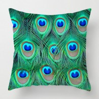 Peacock Feathers cushion