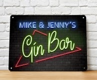 Personalised Gin Bar Sign