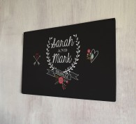 Personalised Wedding Laurel Sign