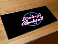 Personalised neon Cocktail bar runner