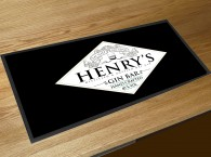 Personalised Gin Bar (eat sleep) runner bar mat