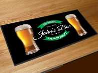 Personalised name pints bar runner