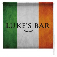 Personalised Irish Flag sign printed blind