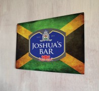 Personalised Beer Label Jamaican Flag Sign