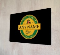 Personalised Pilsner Yellow Beer Label Sign
