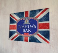 Personalised Beer Label Union Jack Sign
