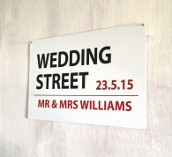 Personalised Wedding Street Sign