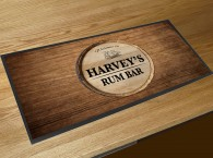 Personalised Rum bar barrel runner mat