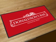 Personalised white label bar runner mat