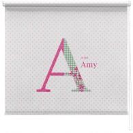 Pink personalised polka dot printed blind