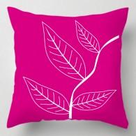 Pink leaves cushion