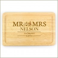 Personalised Mr & Mrs Rectangle Chopping Board