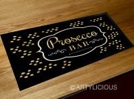 Prosecco bar gold runner mat