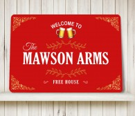 Personalised Bar Sign flourish