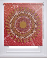 Mandala Red Gold printed blind