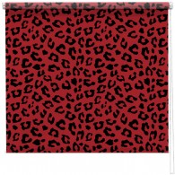 Red Leopard print blind