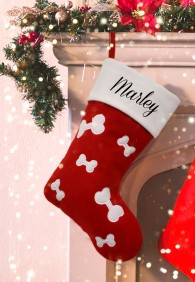 Personalised Christmas Deluxe Pet Red Stocking