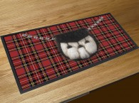 Red Tartan Sporran bar runner mat