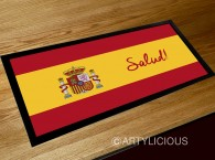 Salud, spanish flag bar runner mat