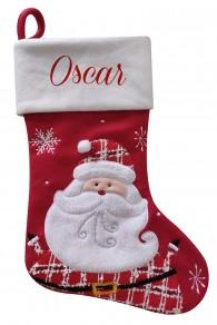 Personalised Christmas Deluxe Stocking, Santa design