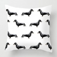 Dachshund dog pattern cushion
