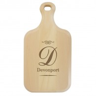 Personalise this Script Initial Paddle Chopping Board personlaised