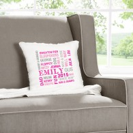 personalised words cushion
