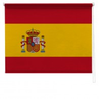 Spanish flag printed blind