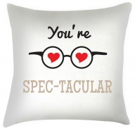You're Spec-tacular valentine cushion