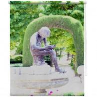 Statue printed blind