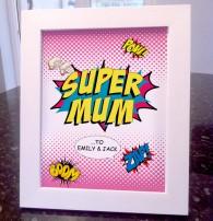 Mothers Day supermum comic art print