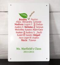Personalised teachers class apple print