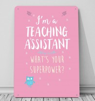 I'm a Teaching Assistant whats your superpower metal sign wall art