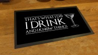 I drink and I know things, game of thrones bar runner