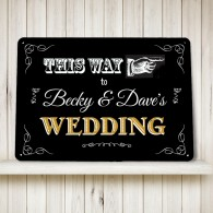 This way to the Wedding Sign