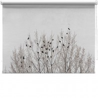 Birds on branches printed blind
