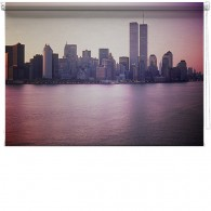 New York skyline Twin Towers Printed Blind