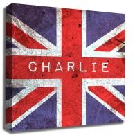 Personalised Union Jack canvas art