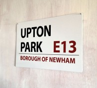 Upton Park West Ham Street Sign