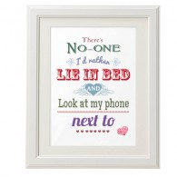 There's no-one Id rather lie in bed looking at my phone with valentine canvas art print