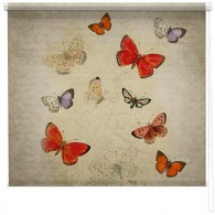 Butterflies printed blind