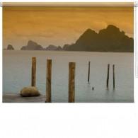 Lake Pier printed blind